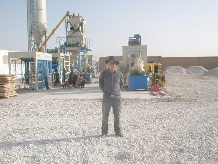 沙特砌块成型机客户