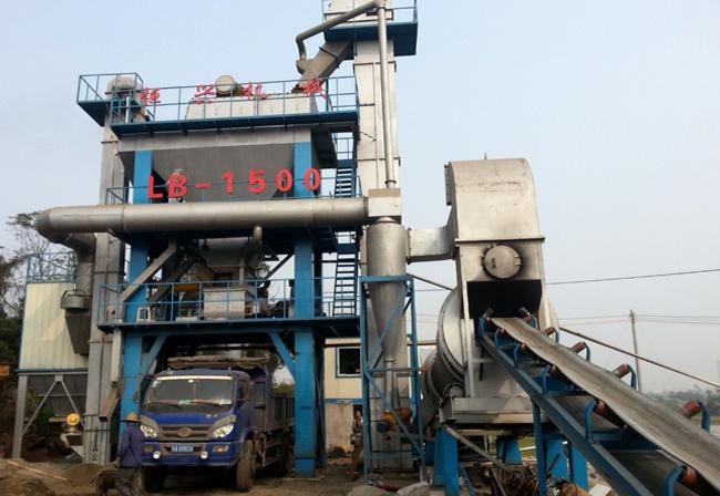 海南LB-1500沥青混凝土搅拌站设备现场