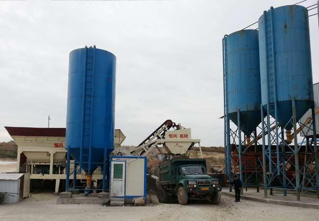 湖南衡阳稳定土厂拌设备客户现场