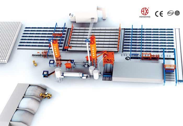 蒸压加气混凝土砌块生产线 蒸压加气块设备